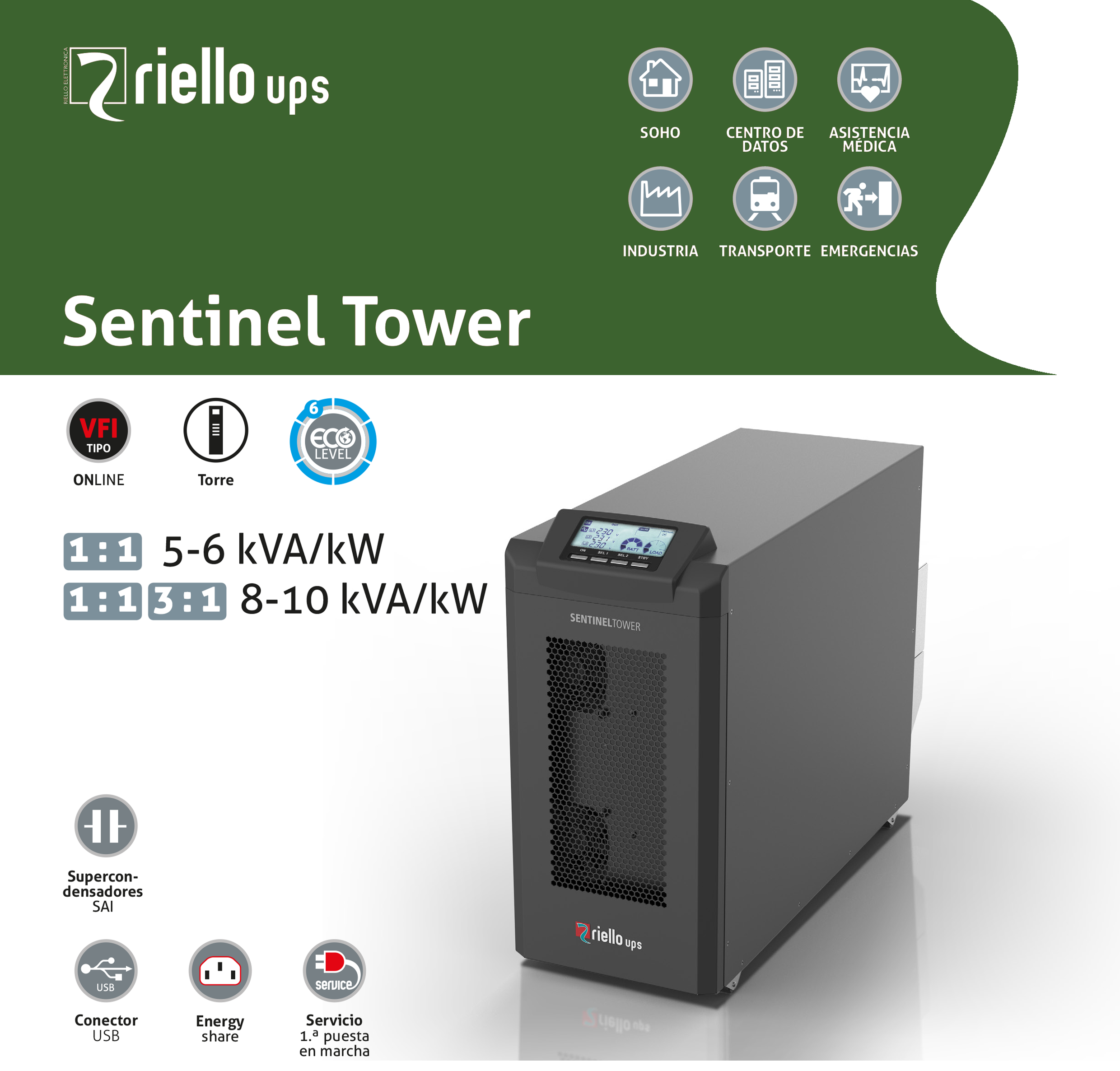 RIELLO - UPS SENTINEL TOWER